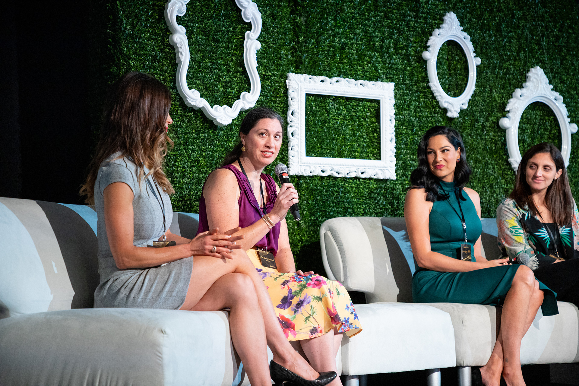 """""""Healthy Me"""" panel experts (from left) Dr. Betsy Carmack, Dr. Sheila Farahani, Nicole Zwiercan and Dr. Julie Arabia;"""